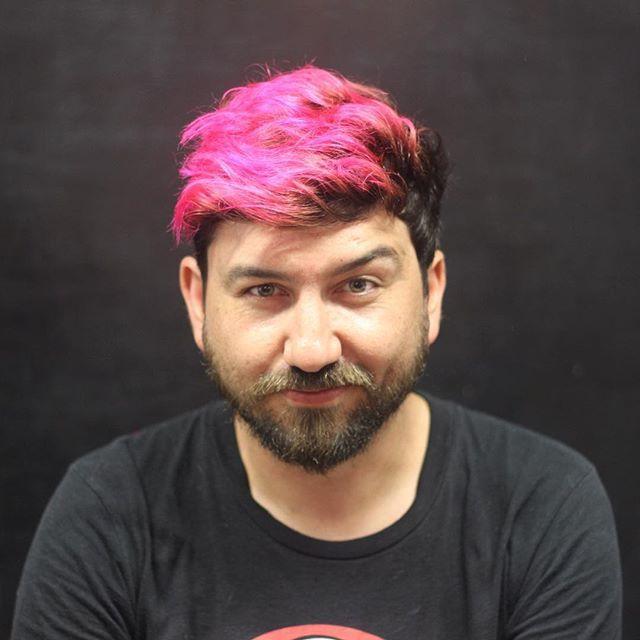 Color para @calama por @malemales #bobstdo #bobheadmale #pinkhair #menhairstyle #colorhair #barbershop #barber #lastarria #scl