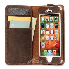 Collatio BookBook wallet case bruin iPhone 5 | sbsupply.nl