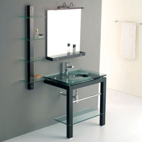 Awesome Websites JJT Trading vg Tempered Glass Bath Vanity This ultra modern looking vanity utilizes several materials