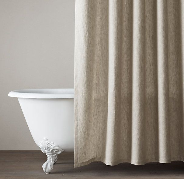Vintage-Washed Belgian Linen Shower Curtain | Cotton & Linen Shower Curtains | Restoration Hardware