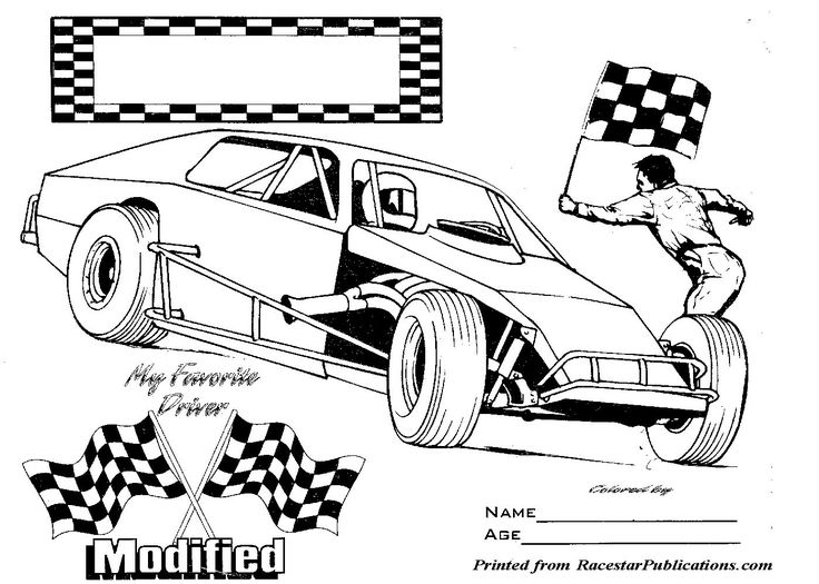 nascar coloring pages modified race car colouring pages