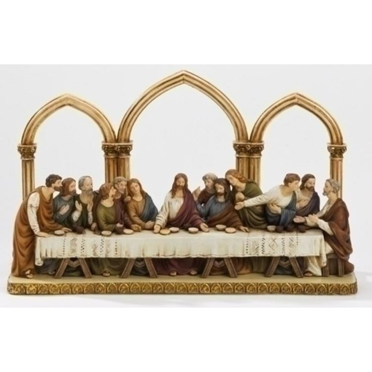 """12"""" St. Joseph's Religious Last Supper with Arches Figure - JOSEPH STUDIOS - Religious Figurines - COLLECTABLES"""