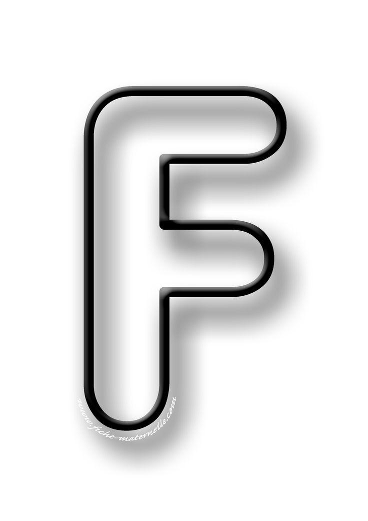 Coloriage de la lettre F | Lettre a, Coloriage, Coloriage ...