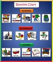 daily routine charts for kids - Google Search