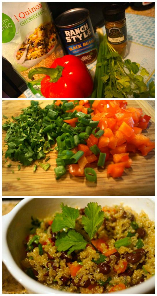 Southwestern Quinoa Salad with Black Beans, Red Bell Peppers, and ...