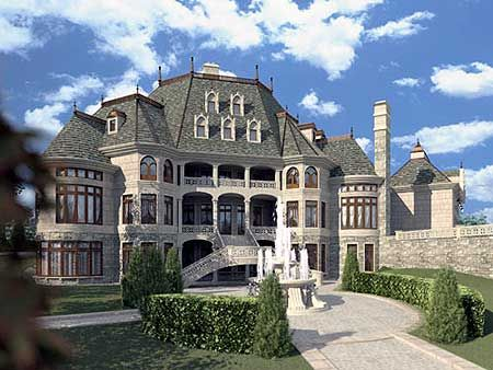 Majestic Storybook Castle - 12013JL   European, Luxury, Photo Gallery, Premium Collection, 1st Floor Master Suite, Bonus Room, Butler Walk-in Pantry, CAD Available, Courtyard, Den-Office-Library-Study, Drive Under Garage, Elevator, In-Law Suite, Loft, MBR Sitting Area, Media-Game-Home Theater, Multi Stairs to 2nd Floor, PDF, Corner Lot, Sloping Lot   Architectural Designs