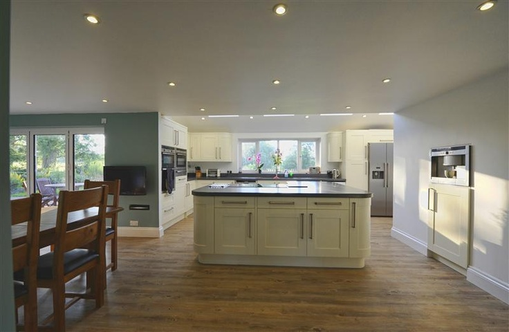 Bifold Doors in a farmhouse kitchen renovation - read more about the project at http://www.bristol-bifold.co.uk/blog