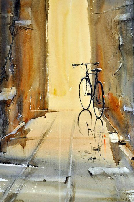"""Anders Andersson (Swedish painter) - """"Have a rest"""" - Watercolor"""