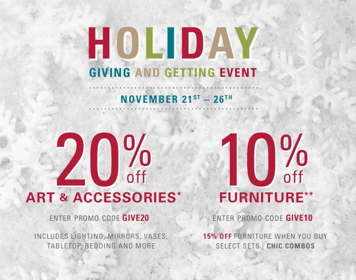Beautiful Z Gallerie Furniture Sale #13: Z Gallerie Black Friday Starts Early! Now Through Cyber Monday, Take 20% Off