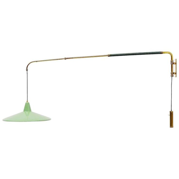 ($3600) Arredoluce Attributed Extendable Wall Lamp, Italy, 1950 1