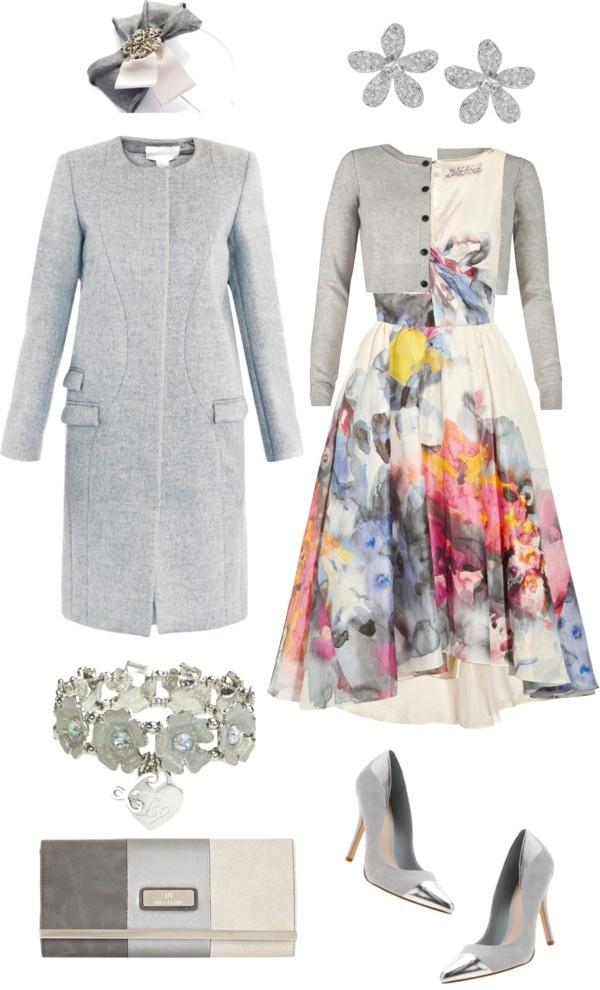 """Grey Florals"" by angela-windsor on Polyvore"