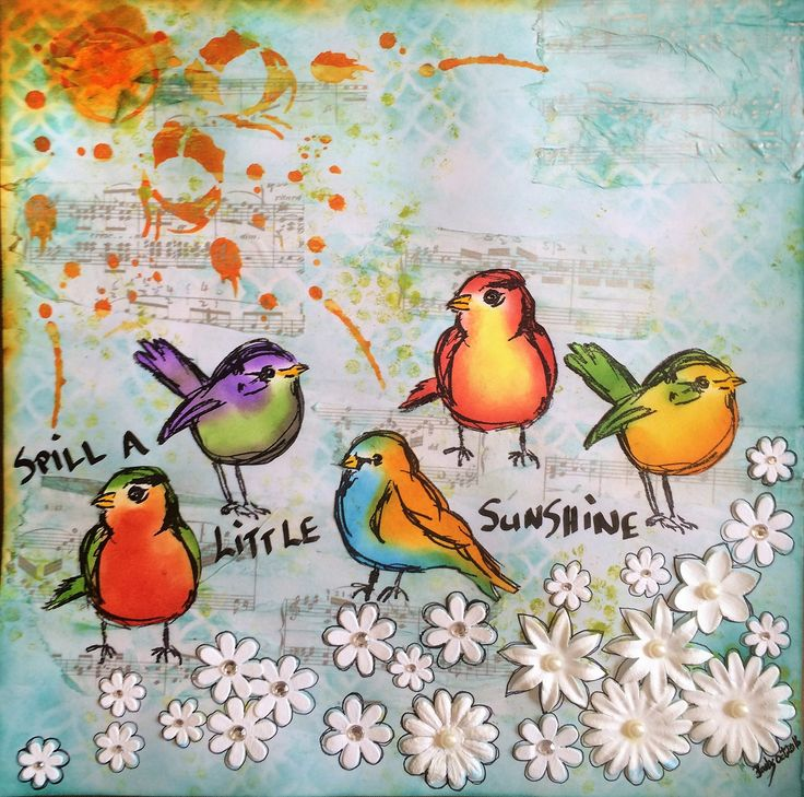 """Barbs Mey The Craftroom Mixed Media Collage """"Sunshine"""""""