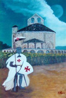 Templario en la ermita de Eunate. Templar Knight to the Hermitage of Eunate