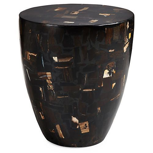 Best Mosaic Drum 14 Side Table Black Multi Side Table 400 x 300
