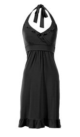 Can't go wrong with this flirty halter #Maternity and #Nursing dress - very flattering