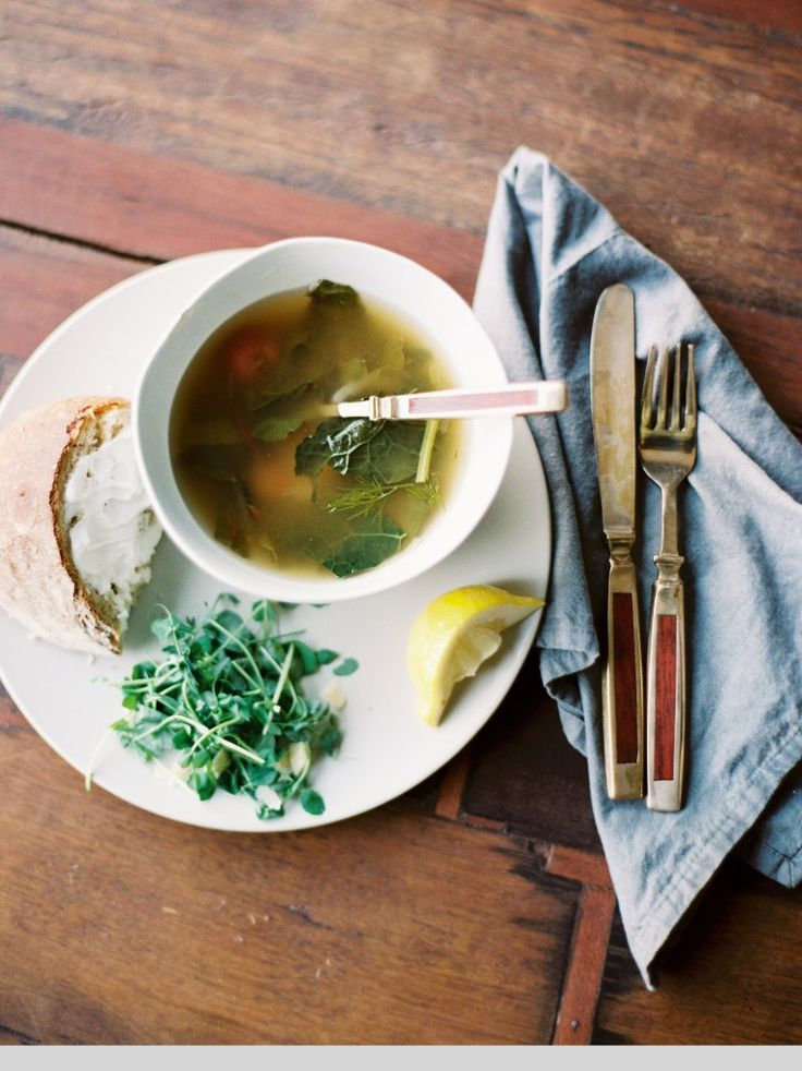 Winter Wilted Greens and Potato Soup | delish: soups | Pinterest