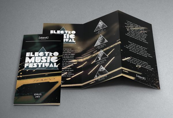 Brochure    EMUS    Electronic Music Festival on Behance Print - music brochure