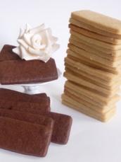 Chocolate cookies and vanilla cookies!:  - taartjesdroom