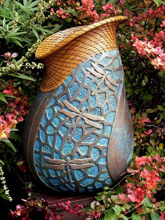 Gourd art by Judy Richie, Red Cloud Originals Member Texas Gourd Society