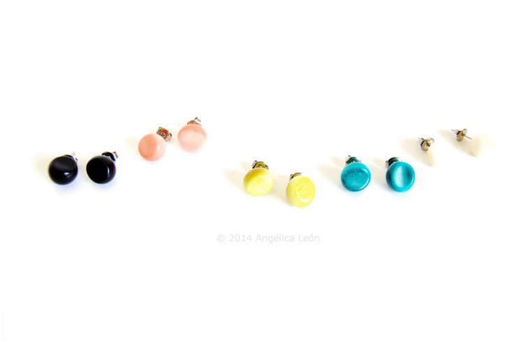 Our Sofia Tagua Studs will make the perfect present. Chose your colour now!