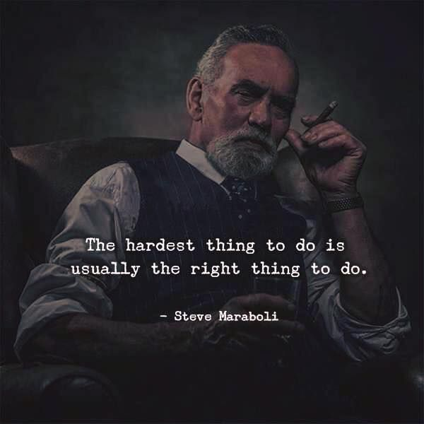 The hardest thing to do is usually the right thing.. via (http://ift.tt/2eOkrOj)