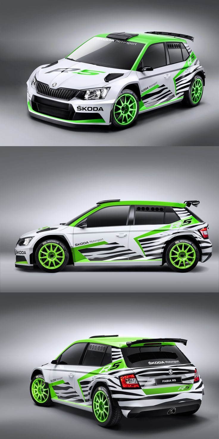 Best car sticker design - Skoda Fabia R5 Rally Livery Car Stickerscar Decalscar