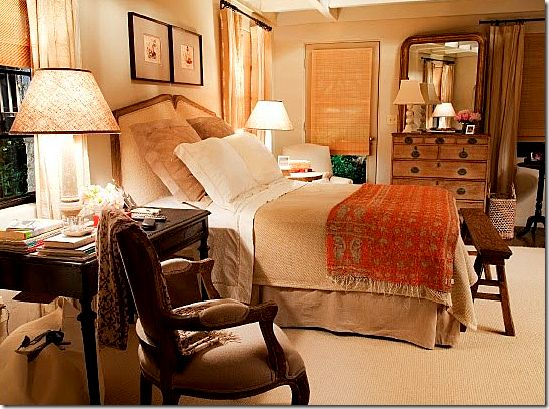 "Gorgeous farmhouse and cottage details from Meryl Streep's bedroom in the movie  ""It's Complicated"""