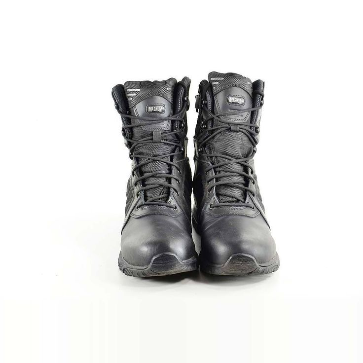 Magnum Mens Military Boots Size 13 M Lynx 8.0 Wp Black Leather #MAGNUM #MILITARY