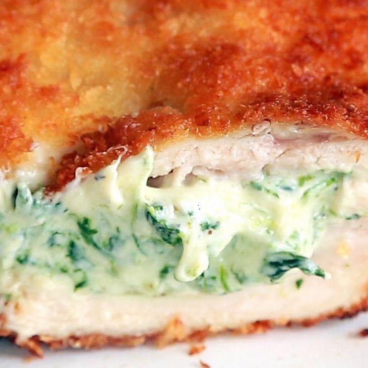 Spinach Dip Chicken Bombs