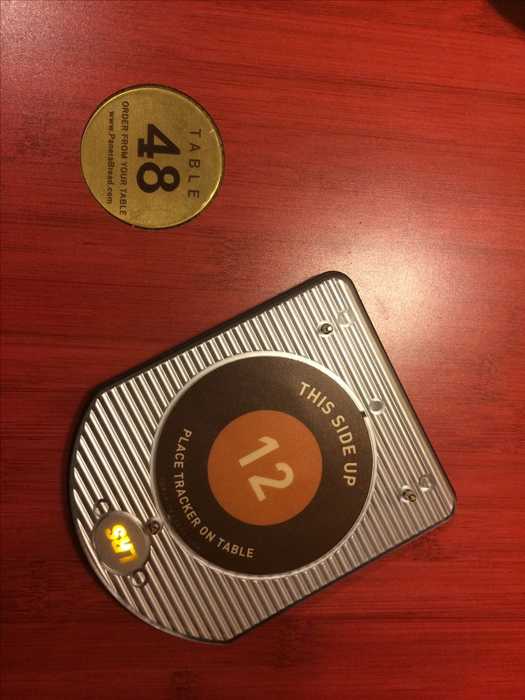 GPS table locator for server to deliver your order (given to customer at time of payment) - Panera Bread - Chicago Suburbs October 2016