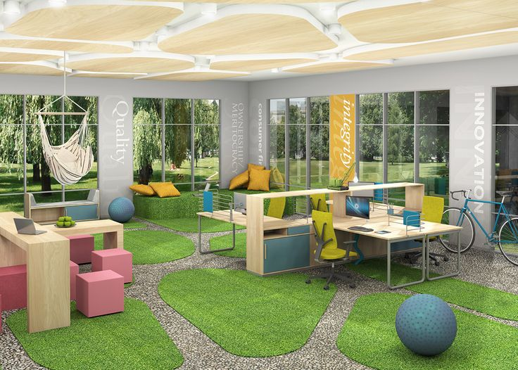 For companies that appreciate their employees' out-of-the-box and innovative thinking, we offer a modern and creative office arranged according to the biophilic design trend. #MYoffice #MakeYourSpace