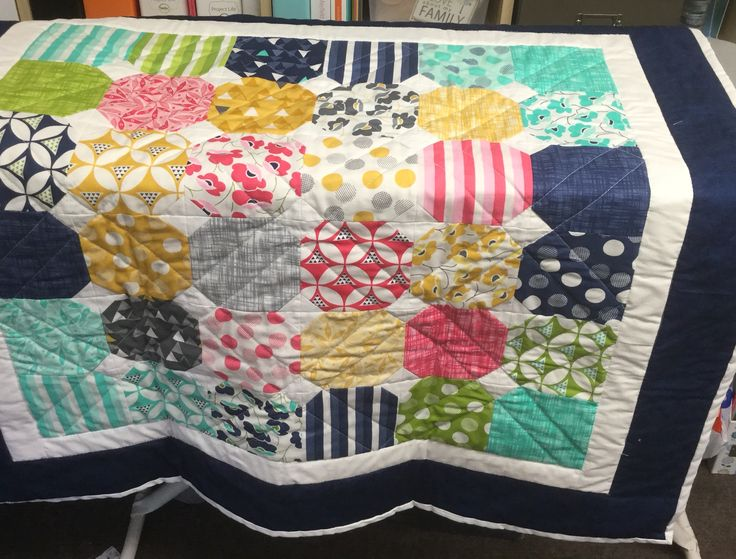 My latest finished project - a snowball quilt