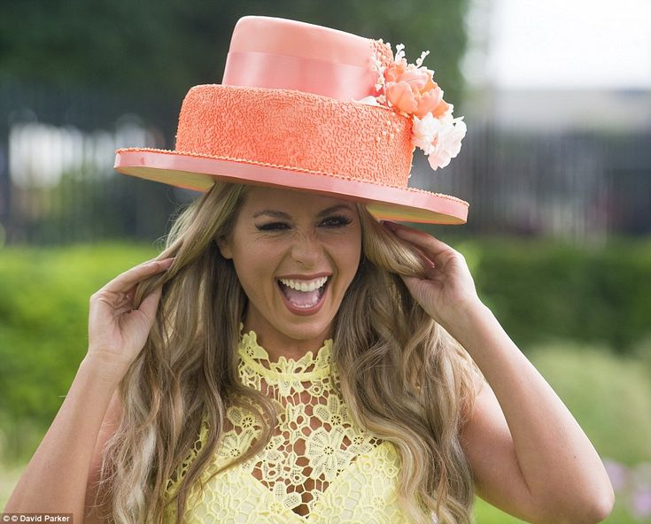 Carly Bakerwore a hat made entirely out of cake - which she said was meant to represent o...