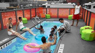We get a lot of out of the ordinary requests for shipping container conversions here at Lion Containers and it would seem that a popular, innovative use for shipping containers at the moment is to convert them into swimming pools!
