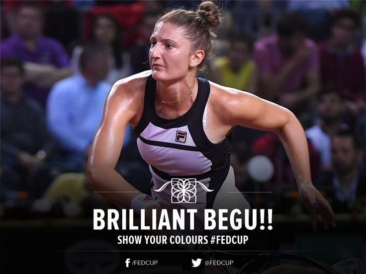 4/23/17 Via FedCup: ROMANIA WINS!!! 🇷🇴 Irina Begu defeats 🇬🇧 Heather Watson 64 75 and Romania defeats Great Britain 3-1 to maintain its place in World Group II