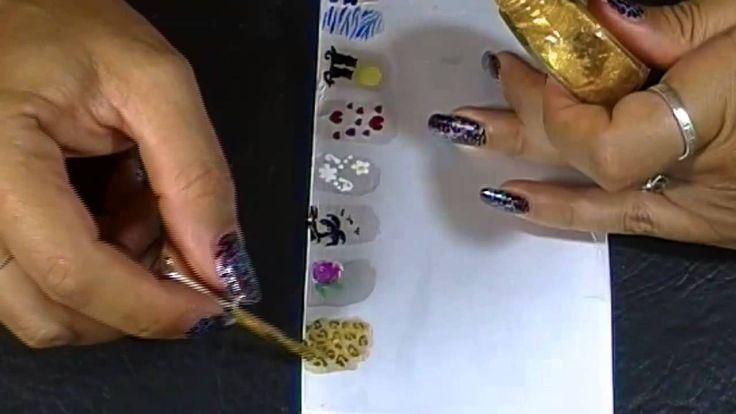 Como hacer Stickers para uñas caseros II
