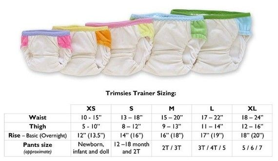 Trimsies Trainer pattern - Cloth training pants printable  PDF sewing pattern - 5 sizes (XS through XL) #EasyPin
