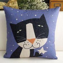 сублимации печатных кошки и белой звездой мода милый фиолетовые кресла подушки