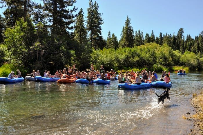 River Rafting On Lake Tahoe S Truckee River Truckee River River