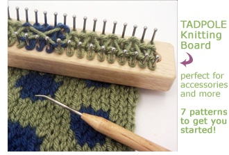 Knitting Board Looms - Free patterns, How-to info and videos