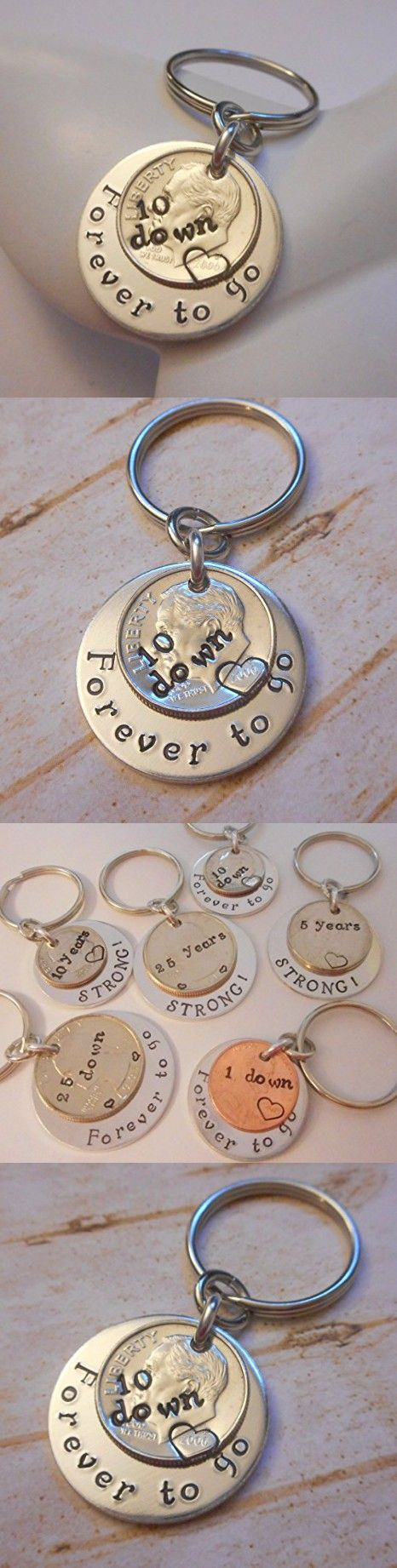 10 Down Forever To Go 2006 Year Dime Key Chain Wedding Anniversary Gift for Him or Her