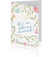 NIEUW: trouwkaarten in aquarel! Vrolijk, hip & trendy!