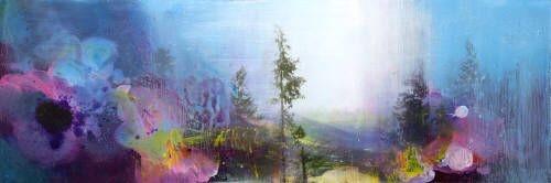 """Canada House Gallery FINDING THE WAY THROUGH / Canada House Gallery - mixed media, resin, panel 24"""" x 72"""""""