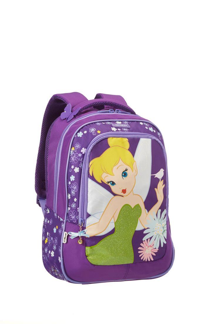 Disney Wonder - TinkerBell Backpack #Disney #Samsonite #TinkerBell #Travel #Kids #School #Schoolbag #MySamsonite #ByYourSide