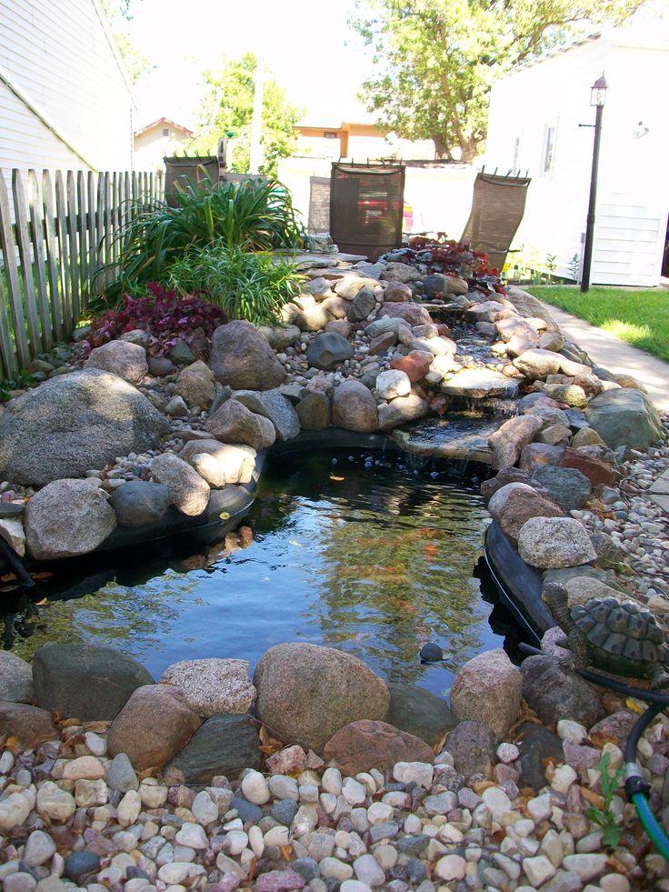 18 best country garden images on pinterest vegetable for Outside goldfish pond