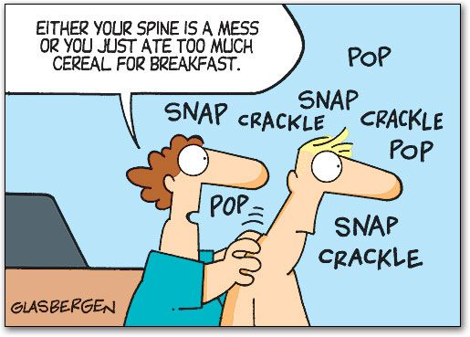 So which is it?? Have you had too much cereal, or is your spine just a complete mess?!