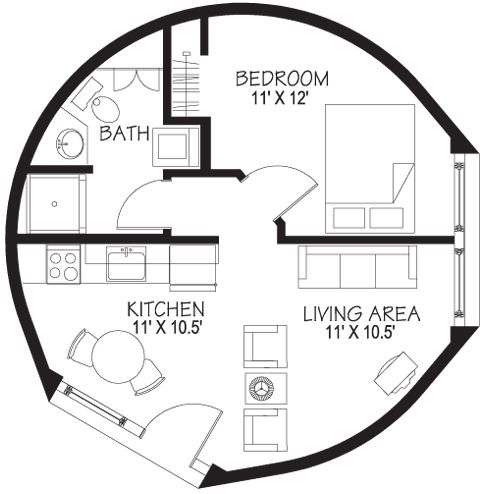Nice dome home floor plan.     Floor Plans | www.dome-homes.com