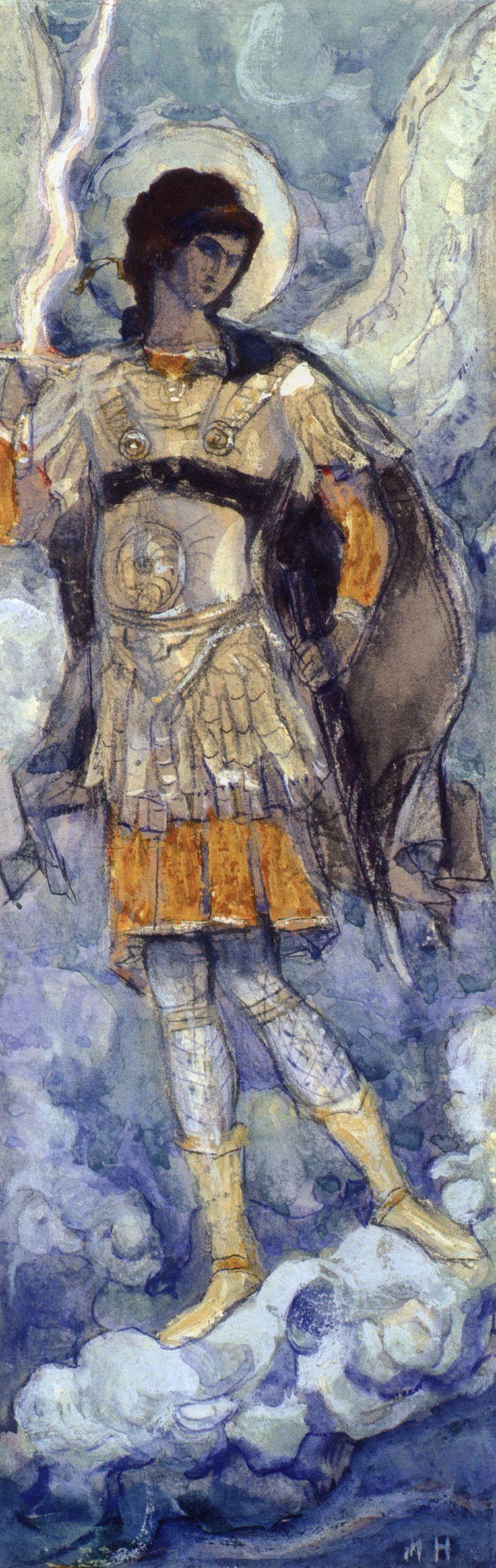 Нестеров М.. Архангел Михаил. 1913-1914