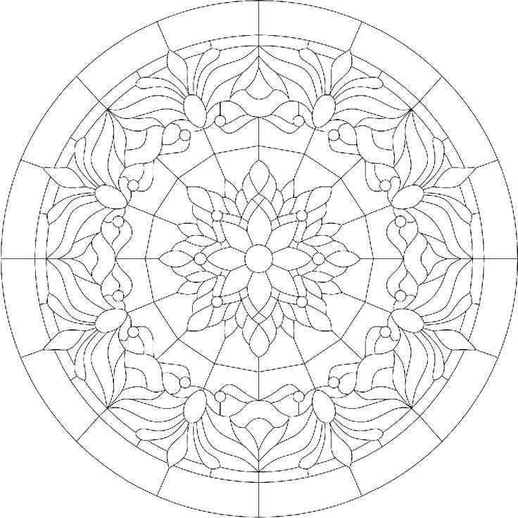coloring pages geometric staind glass - photo#18