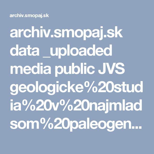 archiv.smopaj.sk data _uploaded media public JVS geologicke%20studia%20v%20najmladsom%20paleogene%20liptova_0001.pdf